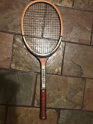 VINTAGE  DUNLOP JOHN McENROE TOURNAMENT MID TIMBER TENNIS RACQUET