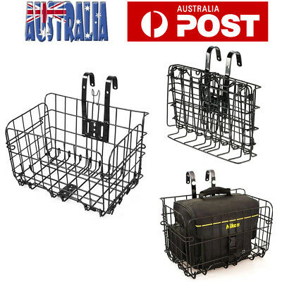 Bicycle Quick Release Front Bike Basket Extra Storage Handlebar Basket Foldable