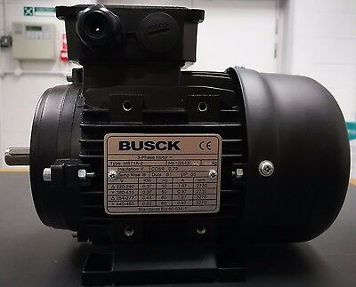 New Busck 0.37 Kw, 3 Phase, Ie1, 400V, 50Hz, B3, 2 Pole Ms71A-2, Electric Motor