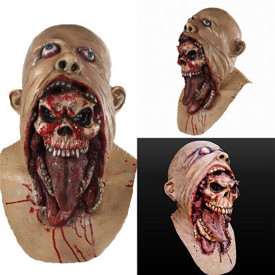 Horreur Sanglant Zombie Loup Masque Latex Costume Déguisement Halloween Cosplay