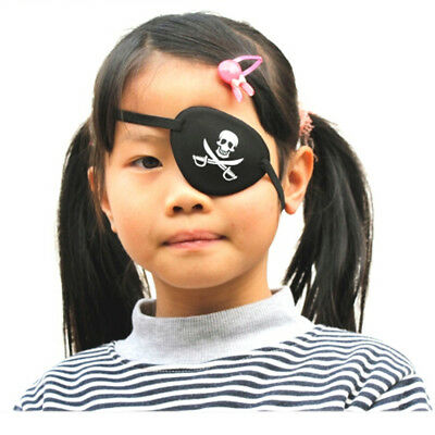 Unisex Kids Pirate Eye Patch Mask Eyeshade Ajustable for Cosplay Fancy Dress
