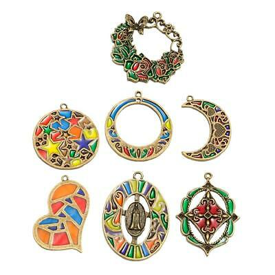 7 Assorted Antique Brass Tool Beads DIY Jewelry Charms Pendants Handcrafts