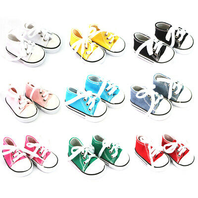 New 9 Pairs Canvas Sneakers Shoes For 18'' American Girl Doll Clothing Accs