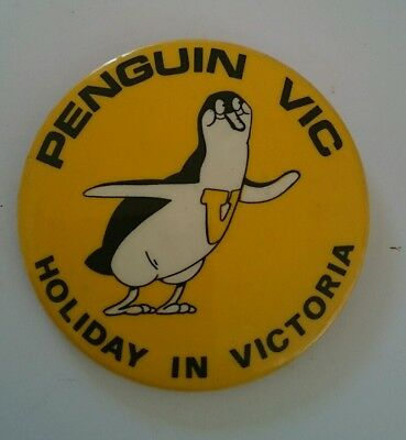Collectable Badge -Holiday in Victoria Penguin - Patrick Bros Melbourne
