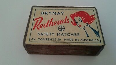 Vintage BRYMAY Redheads Matchbox with matches