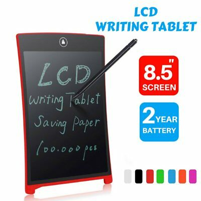 "8.5"" LCD eWriter Tablet Writting Drawing Pad Memo Message Board For Kid Child UK"