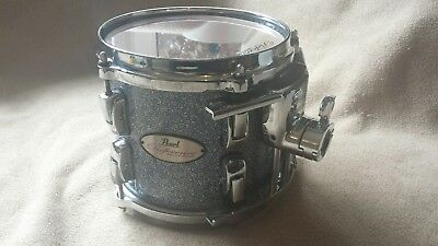 """Pearl Reference 8"""" tom Crystal Rain with Protection Racket case and tom mount"""