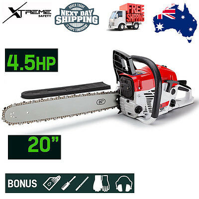 """Baumr-AG 20"""" Pro-Series Huge Power 62cc Easy Start A-VIBE Petrol Chainsaw SX62"""