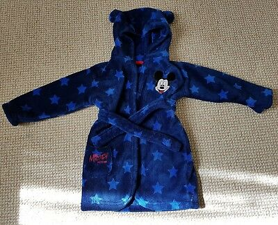 boys mickey mouse dressing gown