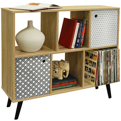 RETRO - Open Sideboard Cube Shelving / LP Vinyl Storage - 2 Doors OF9700