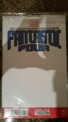 Marvel NOW! Fantastic Four #1 (2013) Blank Cover Signed SEE DETAILS!!!