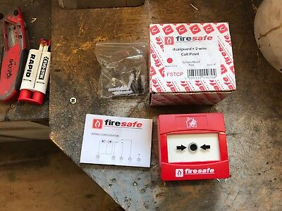 Firesafe Dualguard + 2 Wire Manual Red Call Point Brand New Boxed Surface Mount