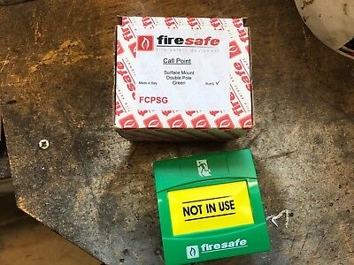 Firesafe Dualguard Manual Green Call Point Brand New Boxed Surface Mount