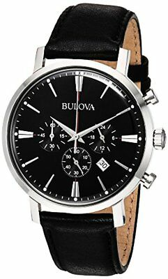 Bulova Corporation Mens Quartz Stainless Steel and Leather Casual Watch