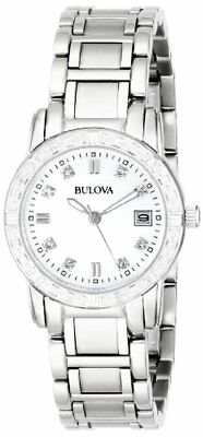 Bulova Womens Diamond-Accented Stainless Steel Watch- Pick SZ/Color.