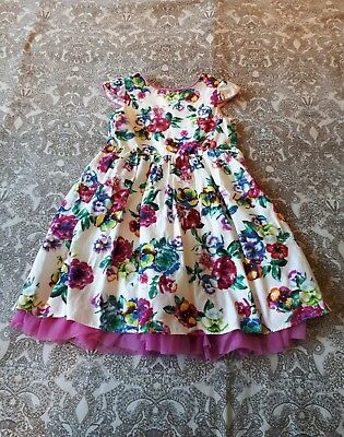 Floral baby girl / toddler party dress size 18 - 24 months / 1&1/2 to 2 years