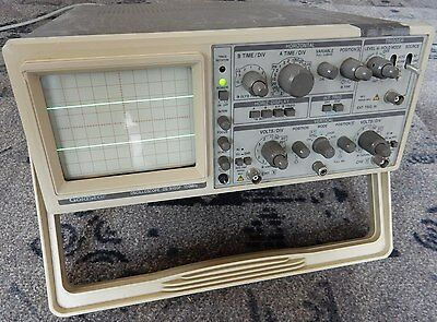 GOLDSTAR OS-9100P 20MHz  ANALOGUE DUAL TRACE OSCILLOSCOPE. TESTED, WORKING.