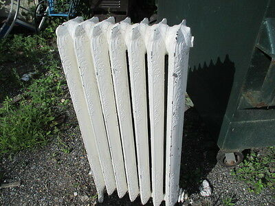 American Radiator Company 7 section antique cast iron radiator, ornate