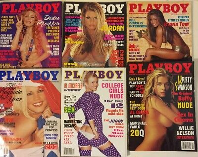 Lot of 10 issues of Playboy Magazine 2002 and 2003
