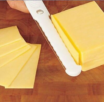 Cheese Slicer Thick & Thin Slices Double Side Stainless Steel Cheese Egg Cutter