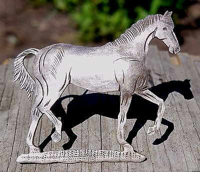 Estate Sterling Silver Horse Pin-925-Free Usa Shipping-Trotting-Large Figural