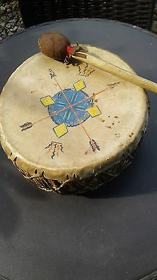 Authentic western indian handmade painted drum