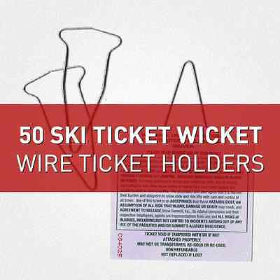 Ski Wickets - Wire Ticket Holders, Ski Ticket Holders (50)