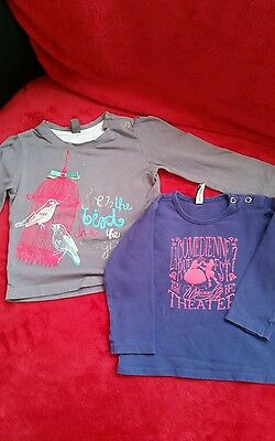Baby girl long sleeve tops 9-12 months bundle