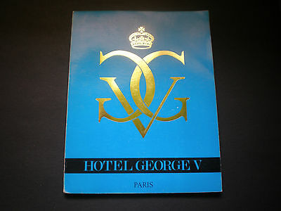 Hotel George V Magazine 1976 Paris France + Brochure in French