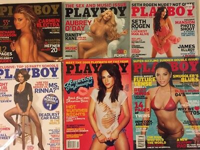 Lot of 10 issues of Playboy Magazine 2009
