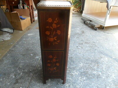 Antique Bedside Wash Stand French Inlaid