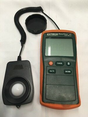 EXTECH Instruments Easy View 31 Light Meter Tested and Complete