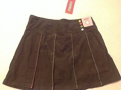 Gymboree Girls New Nwt Size 9 Brown Lots Of Dots Button Skort
