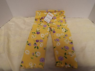 Gymboree New With Tags Size 6-12 Months Girls Pants Yellow With Purple Flowers
