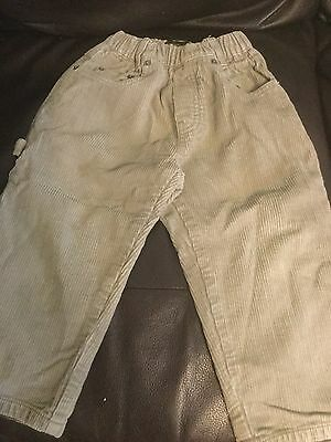 baby boys timberland corduroy trousers age 18 months grey