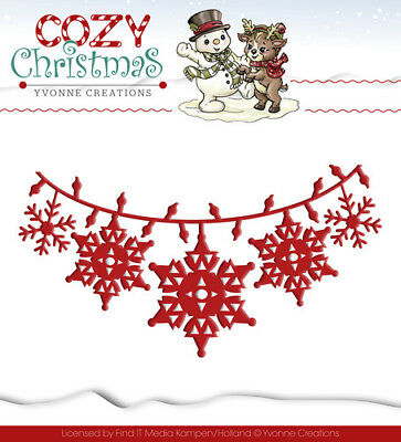 Yvonne Creations Cosy Christmas - Christmas Lights YCD10036, Stanzschablone
