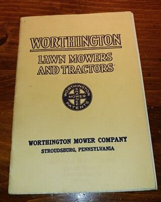 Vintage 1928 Worthington Lawn Mowers And Tractors Catalog