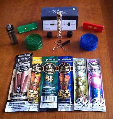 Twisty Glass Blunt Factory Sealed w/5 free bonus items*US SELLER* Ships 24 hours