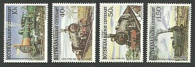 Botswana 1993 Trains Railway Centenary Set Mnh