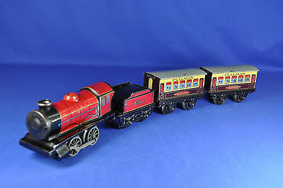 Hornby Tenderlok mit Waggons / Railway Track with Wagons, England, 1950-er/-ies