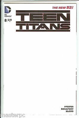 Teen Titans #8 Blank Variant DC New 52 NM