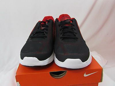 New! Nike Boys Revolution 3 GS Running Shoes, Black/Red/Silver, Various Sizes