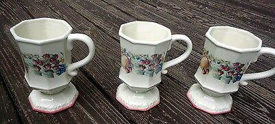 "3 Avon 2003 ""sweet Country Harvest"" Coffee Mugs"