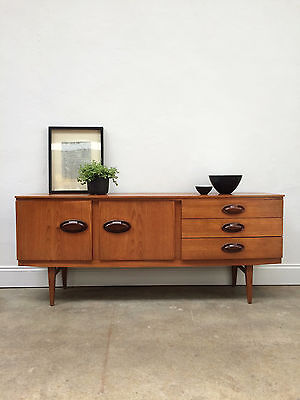 Vintage 1960s Beautifully Teak Sideboard. Retro Danish Mid Century. DELIVERY