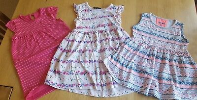 Bundle of girls summer dresses 18 to 24mths