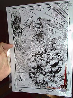 X-Men print signed by While Portacio