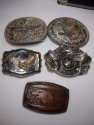 5 Belt Buckles with Eagle Theme