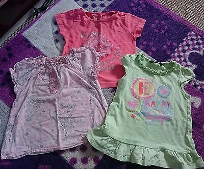 Girls tshirt bundle aged 1-2 years