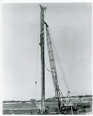 Vintage 8 x10 Photo Marion power Shovel 93-M  with a Blast hole Drill