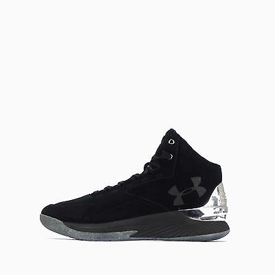 Under Armour Curry 1 Luxury Mid Suede Men's Shoes Black